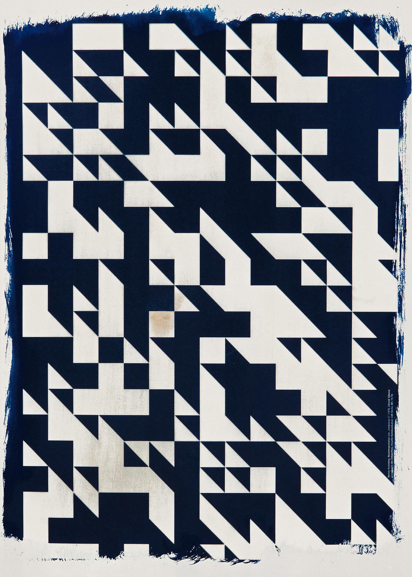 Wanda Konietzny, 42×59,4 cm, Inspiriation: Zdenek Sykora, Black-White-Structure, 1965
