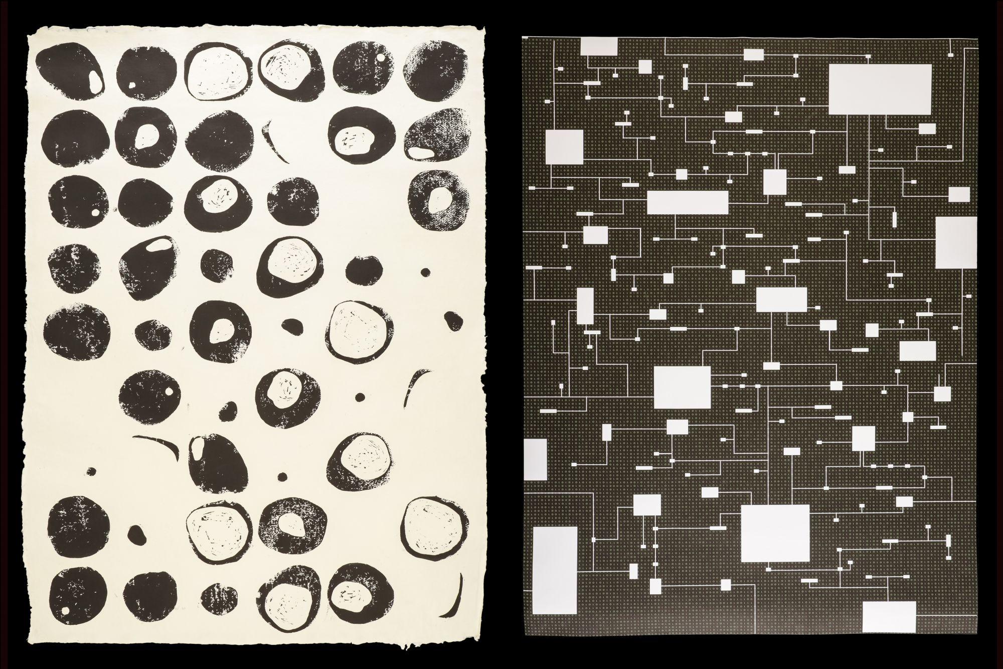 Maya von Matuschke / Bianca Cabezas Osiander (Linoldruck auf Buchbindepapier), Michel Best / Katharina Aae (Digitaldruck)
